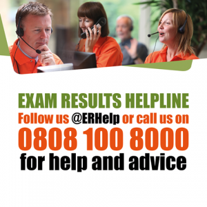Exam results helpline
